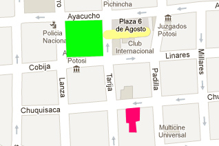 Maps and Location Hotel La Casona Potosi Bolivia